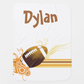 Football Sports Ball Game Personalized Name Baby Blanket