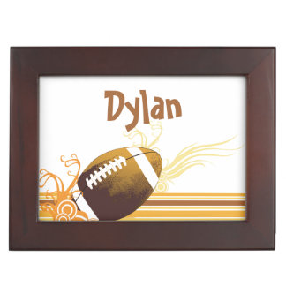 Football Sports Ball Game Personalized Name Keepsake Box