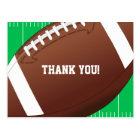 Football Sports Birthday Thank You Postcard