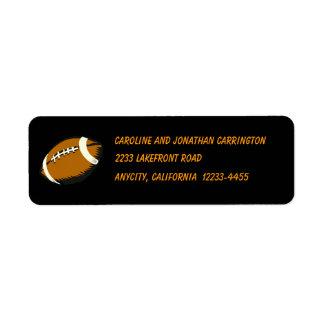 Football Sports Black and Brown Return Address Return Address Label