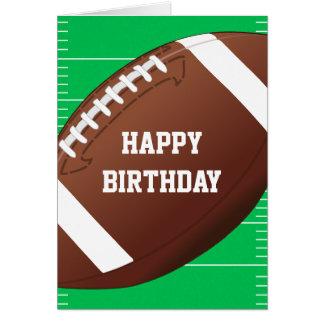 Football Sports Fan Birthday Card