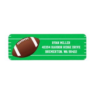Football Sports Field Return Address Label