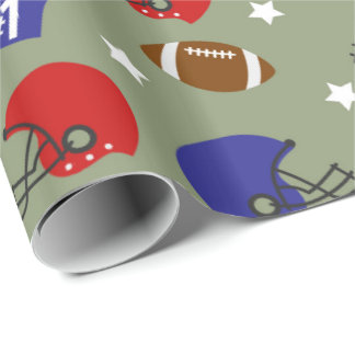 Football sports fun party wrapping paper