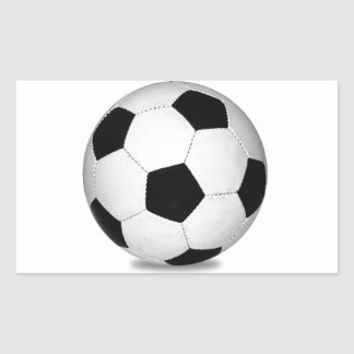 Football sports play games outdoor fun happy kids rectangular sticker