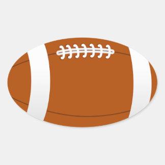 Football Sports Team Coach Teacher Destiny Oval Sticker