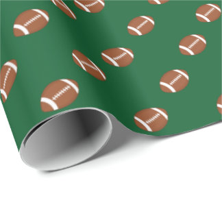 Football Sports Theme | Any Background Color Wrapping Paper
