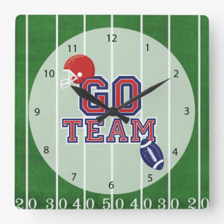 Football Square Wall Clock