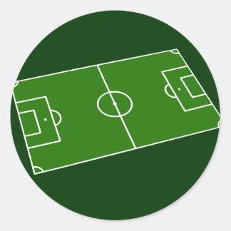Football stadium design round sticker