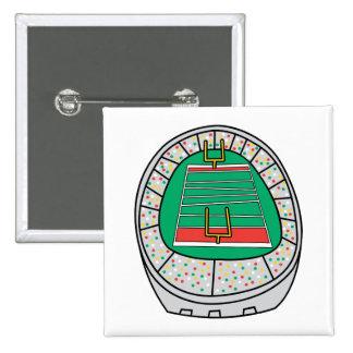 football stadium graphic 15 cm square badge