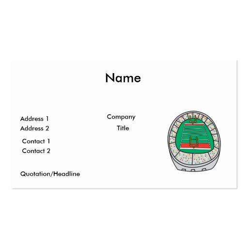 football stadium graphic business card