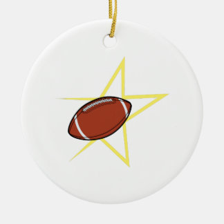 Football Star Christmas Ornament
