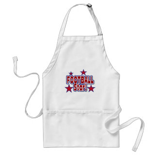 Football Star Red, White, and Blue T-shirts Adult Apron