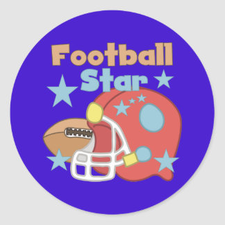 Football Star Round Sticker