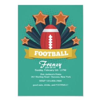 "Football Stars Invitation 5"" X 7"" Invitation Card"