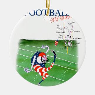 Football stay focused, tony fernandes round ceramic decoration