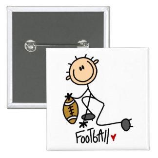 Football Stick Figure Button