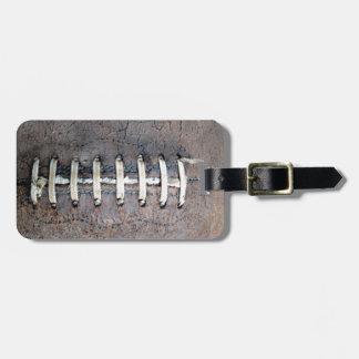 Football Strings horizontal Luggage Tag