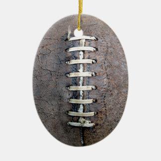Football Strings vertical Christmas Ornament