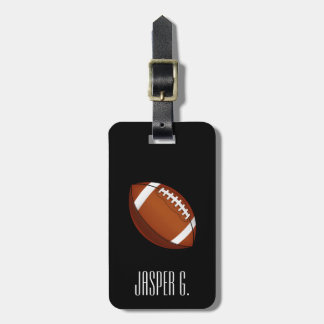 Football Style Custom Name Luggage Tag