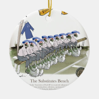 football subs blues christmas ornament