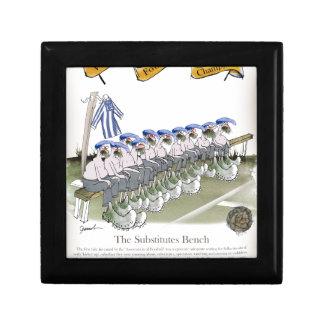 football substitutes blue white stripes gift box
