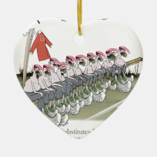 football-substitutes red teams christmas ornament
