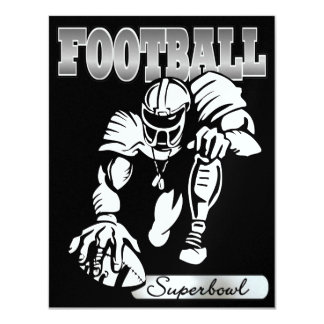 Football Super Bowl Invitation by SRF