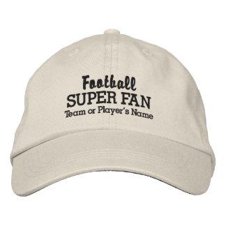 Football Super Fan Custom Team or Player's Name Embroidered Baseball Cap