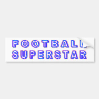 Football Superstar Bumper Sticker