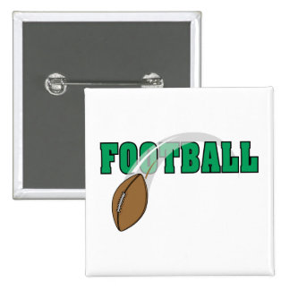 football swoop ball text graphic 15 cm square badge