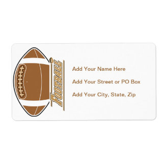 Football T-shirts and Gifts Shipping Label