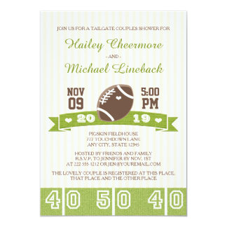 FOOTBALL TAILGATE COUPLES WEDDING SHOWER 13 CM X 18 CM INVITATION CARD