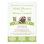 FOOTBALL TAILGATE COUPLES WEDDING SHOWER PERSONALISED INVITES
