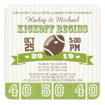 FOOTBALL TAILGATE ENGAGEMENT PARTY 13 CM X 13 CM SQUARE INVITATION CARD