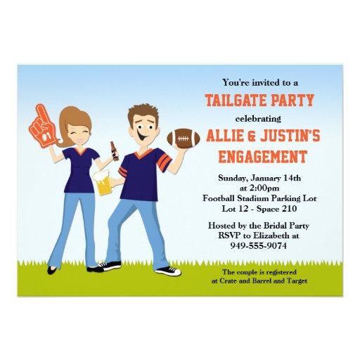 Football Tailgate Party Invitation