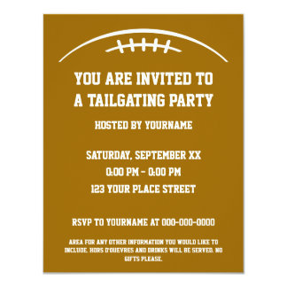 Football Tailgating Party Invitation