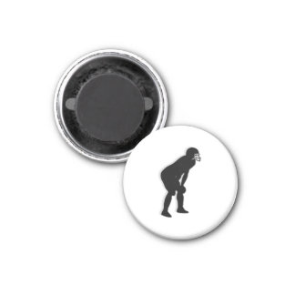 Football TD Chess TAG Defensive Back - White-L 3 Cm Round Magnet