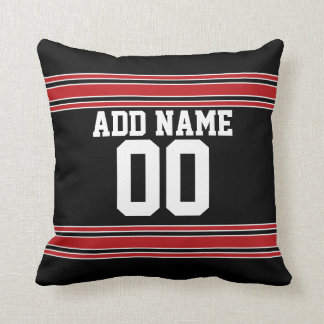 Football Team Jersey with Custom Number Cushion