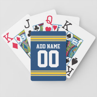 Football Team Jersey with name and number Bicycle Playing Cards