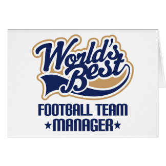 Football Team Manager Gift Card