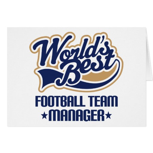 Football Team Manager Gift Cards