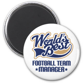 Football Team Manager Gift 6 Cm Round Magnet