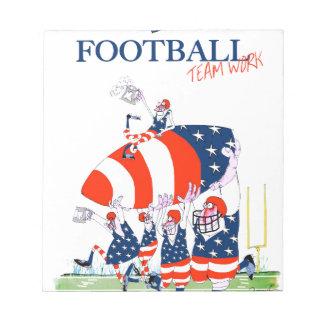 Football team work, tony fernandes notepad