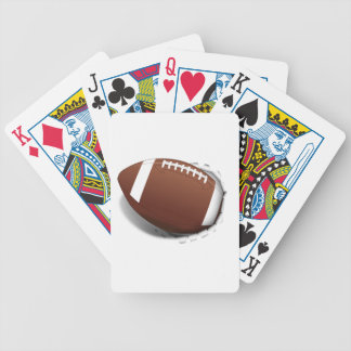Football Tearing Out Bicycle Playing Cards