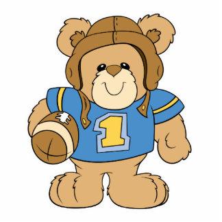 Football Teddy Bear Design Acrylic Cut Outs