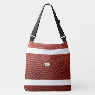 Football Texture Personalized Crossbody Bag