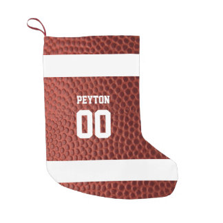Football Texture Personalized Stocking