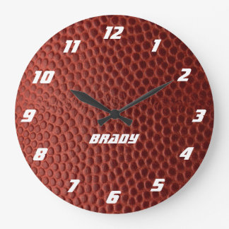 Football Texture Personalized Wall Clock