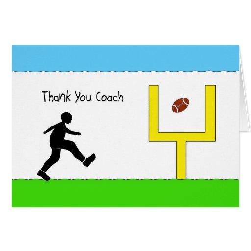 football thank you coach note card zazzle