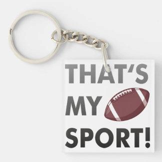 Football - thats s my sport american football schlüsselring